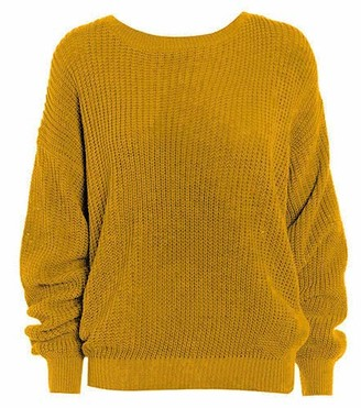 ER Direct Womens Oversized Ladies Knitted Baggy Chunky Jumper Ladies Loose Sweater Top (Purple XL UK 16-18)