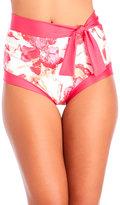 Carmen Marc Valvo Caribbean Breeze Ingrid High-Waist Bikini Bottom