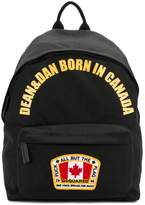 Backpack With Writing And Canada Flag