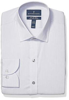 Buttoned Down Men's Slim Fit Tech Stretch CoolMax Easy Care Dress Shirt
