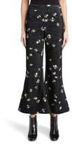 Acne Studios Women's Tyme Floral Corduroy Wide Leg Pants