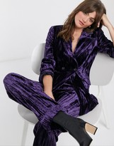 And other stories & crushed velvet pant in dark purple