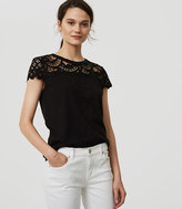 LOFT Lace Topped Tee