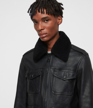 AllSaints Castle Leather Jacket