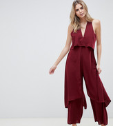 Asos DESIGN Tall jumpsuit with multi layers