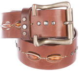 Henry Beguelin Embellished Leather Belt