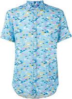 Drumohr printed shirt - men - Linen/Flax - S