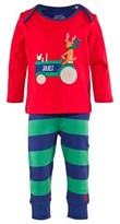 Joules Reindeer Print and Striped Pyjama Set