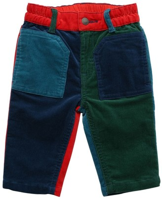 Stella McCartney Kids Color Block Stretch Corduroy Pants