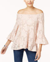 Style&Co. Style & Co Convertible Burnout Top, Created for Macy's