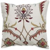 Crewel Embroidered Throw Pillow