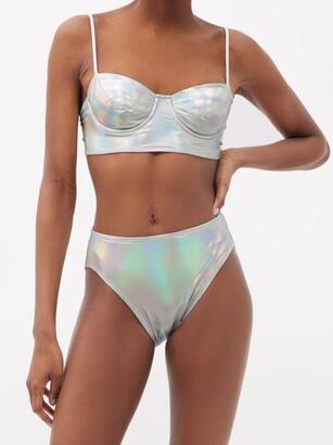 Norma Kamali Iridescent Underwired Bikini Top - Silver