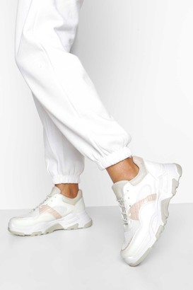 boohoo Chunky Sole Lace Up Trainers