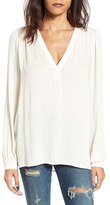 Lush Women's Textured V-Neck Blouse