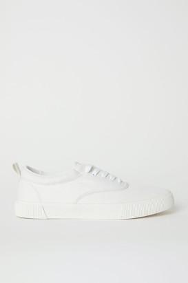 H&M Cotton Fabric Shoes - White