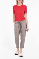 Raquel Allegra Moire Reverse Print Gauze Trousers