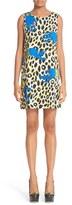 Moschino Women's Leopard Print Satin Shift Dress