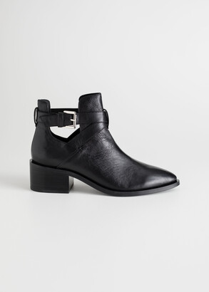 And other stories Cut Out Leather Ankle Boots