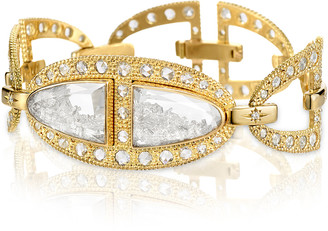 Moritz Glik Kaleidoscope Shaker Diamond 18K Gold Bracelet