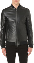 Armani Jeans Panelled leather bomber jacket