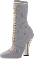 Fendi Knit Embroidered Booties