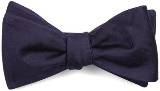 Tie Bar Herringbone Vow Eggplant Bow Tie