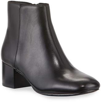 Donald J Pliner Cyrus Low-Heel Leather Booties