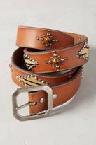 Linea Pelle Studded Calfhair Belt