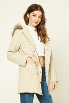 Forever 21 FOREVER 21+ Faux Fur-Lined Utility Jacket