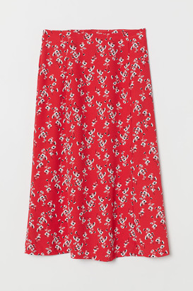 H&M Patterned Skirt - Red