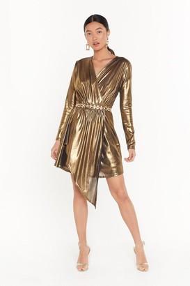 Nasty Gal Womens All That Shines Metallic Mini Dress - Gold
