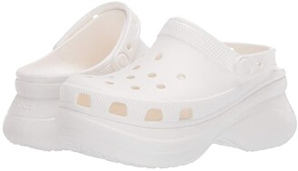 Crocs Classic Bae Clog (White) Women's Clog Shoes