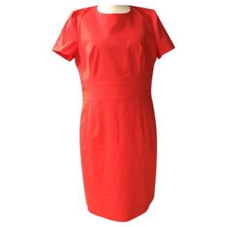 HUGO BOSS \N Red Cotton - elasthane Dress for Women