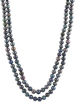 Bella Pearl Black Pearl Endless Necklace