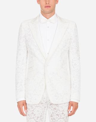 Dolce & Gabbana Sicilia Jacket In Cordonnet Lace