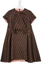 Fendi FF motif pattern dress
