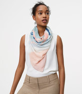 LOFT Watercolor Stripe Scarf