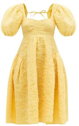 Cecilie Bahnsen Lumi Silk-blend Cloud-matelasse Dress - Yellow