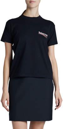 Balenciaga Fitted Crewneck T-Shirt with Political Logo