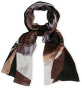 Vince Camuto Art School Printed Scarf
