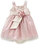 Bonnie Jean Bonnie Baby Girls 12-24 Months Bonaz-Stitched Sheer-Overlay A-Line Dress