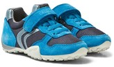 Geox Blue Snake Boy Elasticated Lace and Velcro Trainers