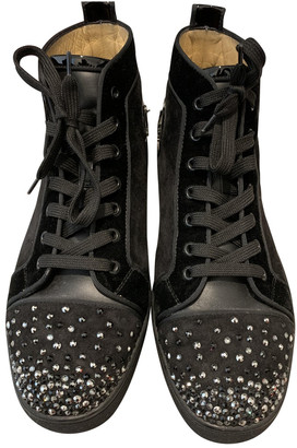 Christian Louboutin Louis Black Suede Trainers