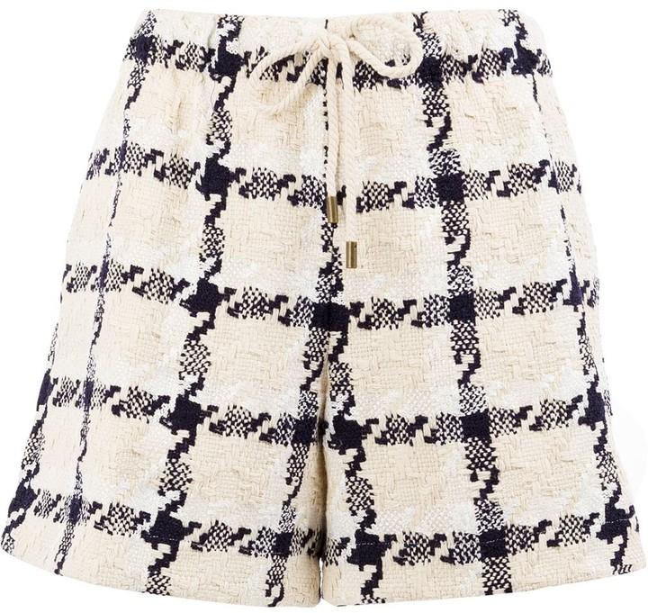 Monse tweed check shorts