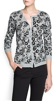 Thumbnail for your product : MANGO Outlet Flocked Flower Cardigan