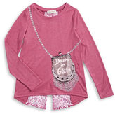 Jessica Simpson Girls 7-16 Dream in Glitter Purse Tee