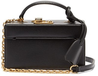 Mark Cross 1845 Mini Saffiano-leather Box Bag - Black