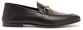 Gucci Brixton Leather Loafers - Mens - Black