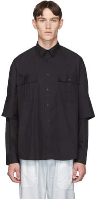 J.W.Anderson Black Double Cuff Shirt