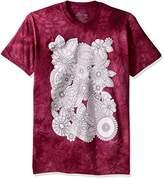 The Mountain Men's Colorwear Big Beautiful Blooms Adult Coloring T-Shirt